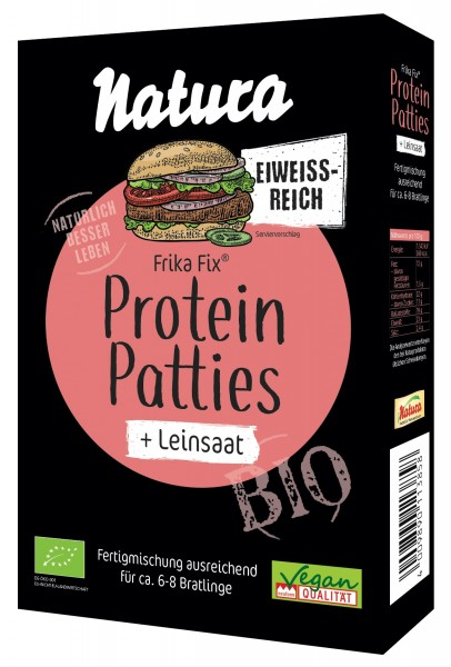 Frika Fix Bio Protein Patties Leinsaat