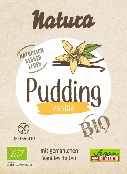 Bio Pudding Vanille 3er-Pack